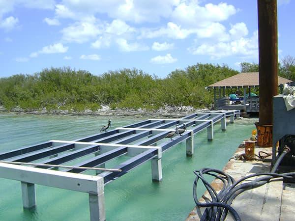 Fiberglass Dock Structure in Indian Keys, Florida