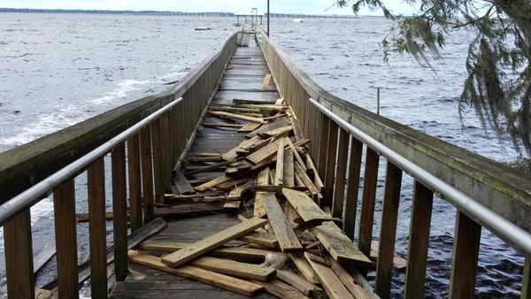 Hurricane Damage to Dock