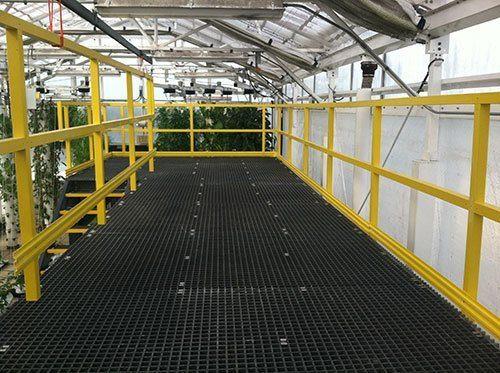 Fiberglass Platforms, Catwalks and Walkways Photo